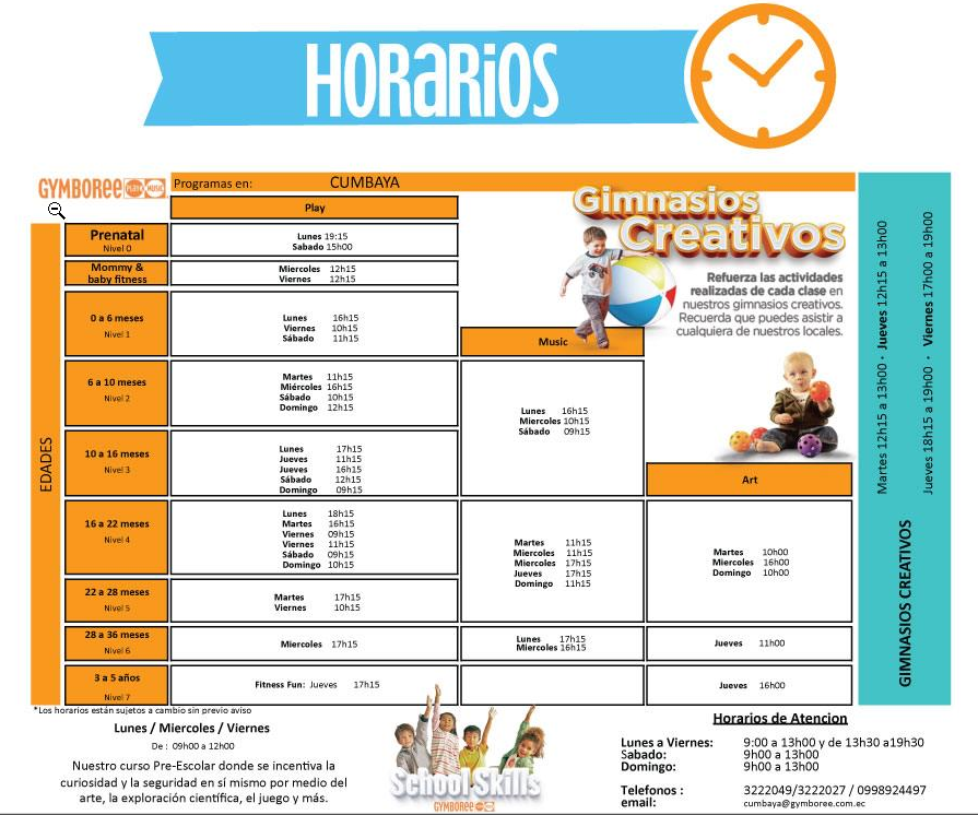 Horarios Cumbayá